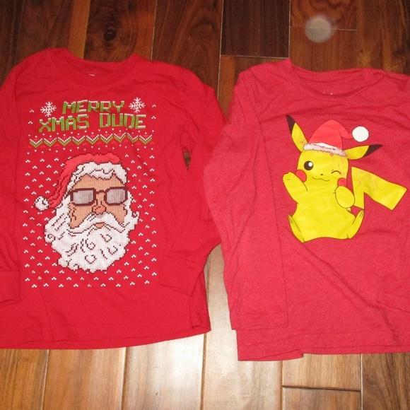 0bcd745cd Shirts & Tops | Christmas Ls Pikachu Santa | Poshmark